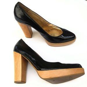 MICHAEL Michael Kors patent leather wooden pumps